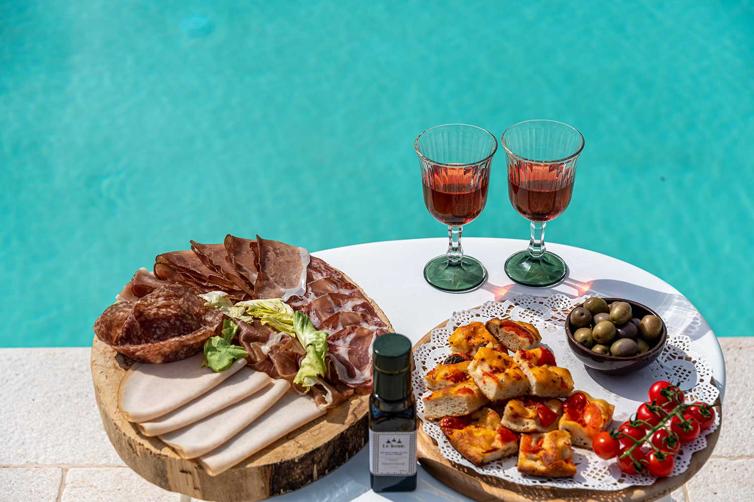 Aperitif amidst the Olive Trees